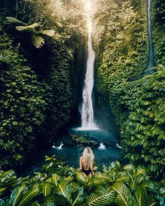 Badung, Bali, Indonesia with Jane Prorvina, travel, traveldiary and traveler Bali Waterfalls, Cool Pictures Of Nature, Small Waterfall, Destinations, Beautiful Places To Travel, Bali Travel, Travel Aesthetic, Adventure Is Out There, Jimbaran