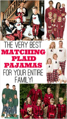 The Very Best Plaid Family Pajamas for the Whole Family! - Family Pajamas - Ideas of Family Pajamas - Cute Christmas card idea! Plaid Family Pajamas for the whole family. Plaid Christmas, Christmas Shirts, Christmas Sweaters, Christmas Cards, Christmas Holidays, Christmas Ideas, Christmas Decorations, Christmas Outfits, 1st Christmas