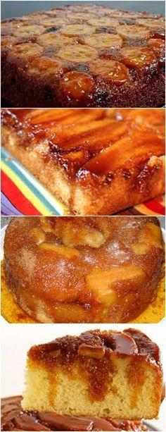 BOLO DE BANANA COM CALDA, FÁCIL DE FAZER E MUITO SABOROSA!!! VEJA AQUI>>>Faça a calda, em uma panela grande, derreta o açúcar até ficar dourado. #receita#bolo#torta#doce#sobremesa#aniversario#pudim#mousse#pave#Cheesecake#chocolate#confeitaria #receita#bolo#torta#doce#sobremesa#aniversario#pudim#mousse#pave#Cheesecake#chocolate#confeitaria Bolo D Banana, French Toast, Food And Drink, Low Carb, Sweets, Bread, Meals, Breakfast, Desserts