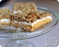 melskitchencafe.com: Pumpkin Cheesecake Crumble Bars