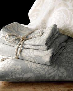 Swedish Farmhouse Washed Linen & Cotton Bedding - Garnet Hill