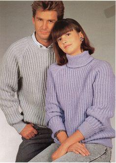 "Womens / Mens Ribbed sweaters Knitting Pattern PDF Fishermens Rib Jumper 32-42"" DK Light Worsted 8 Ply Unisex Knitting Pattern PDF Download"