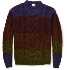 Paul Smith Striped Cable-Knit Sweater | MR PORTER