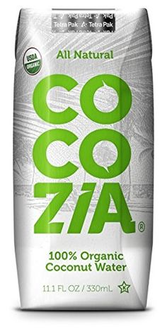 Cocozia 100% Organic Coconut Water, No Pulp, No Sugar Added, No Preservatives, Not From Concentrate. 11.1 Ounce