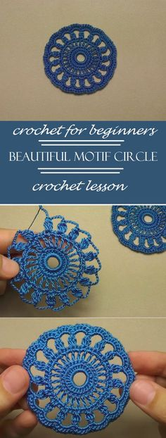 crochet lace motif circle step by step