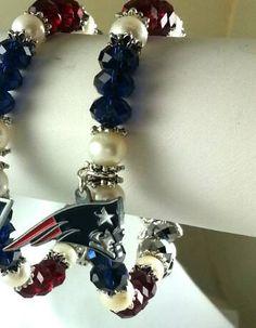 Check out this item in my Etsy shop https://www.etsy.com/listing/218155502/nfl-swarovski-patriots-charm-bracelet