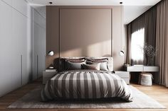 33 Vintage Bedroom Decor Ideas to Turn your Room into a Paradise - The Trending House Modern Luxury Bedroom, Luxury Bedroom Design, Bedroom Bed Design, Home Room Design, Contemporary Bedroom, Luxurious Bedrooms, Interior Modern, Vintage Bedroom Decor, Home Decor Bedroom
