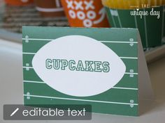 Football Food Labels Text Editable & Printable  by theuniqueday