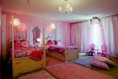 """The girls both loved this room if they had to share and compromise! I would do without the whole """"Barbie"""" them though!"""