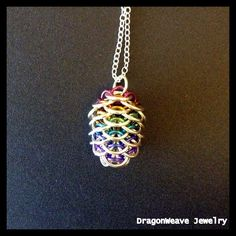 Dragon Egg in Lavender and Black by DKSC on Etsy | My Chainmaille ...