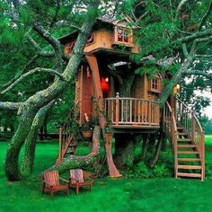 a great idea for a guest house/treehouse