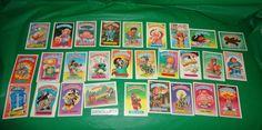 28 piece Garbage Pail Kids Original Sticker Trading Cards 1985 Topps  find me at www.dandeepop.com