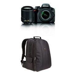 Nikon D3200 DX-format DSLR Kit w/ 18-55mm and 55-200mm VR Lenses + Bag