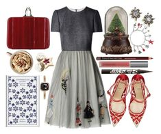 """Now bring us some figgy pudding"" by karllydolly ❤ liked on Polyvore featuring RED Valentino, Roman, Christian Louboutin, Kevyn Aucoin, Perricone MD, Anna Sui, Panacea, Mike Saatji and Christmas"