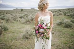 Hair and makeup by Steph. Photos by Jessica White. Flowers by Studio Stems.