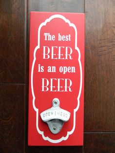 Detroit Red Wings Colors Wall Mount Beer by theurbanupcyclers