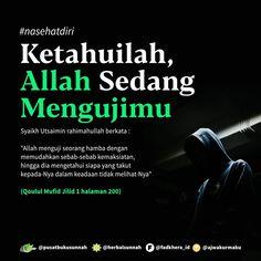 """Open Spam Like Free 1 BUKU PBS di Instagram """"❤ Semoga yang like dan komen """"aamiin"""" sanggup melewati segala ujian dari Alla Ta'ala . [🌸 Ketahuilah, Allah Sedang Mengujimu 🌸] . Syaikh…"""" Reminder Quotes, Self Reminder, Muslim Quotes, Islamic Quotes, People Quotes, Me Quotes, Hijrah Islam, Kinds Of Poetry, Quran Quotes Inspirational"""