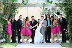 fuschia and turquoise wedding theme
