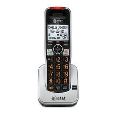 AT&T NewIncludes One Year WarrantyThe AT&T is a DECT expansion handset that requires a , , or to operate. It has Caller ID announce, which will announce who's calling. The features HD au Screen Door Hardware, Cordless Telephone, Tent Sale, Caller Id, Home Phone, Make Keys, E 10, Digital Technology, Landline Phone
