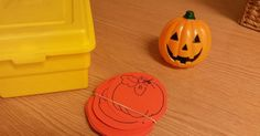 Mystery Box:  Inside our yellow box, we found a pumpkin! What color is a pumpkin?        I passed out paper pumpkins to all the kids & we di...