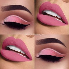 Cute eye make up – www.guugle… Cute eye make up – www. Eye Makeup Blue, Eye Makeup Steps, Pink Makeup, Cute Makeup, Gorgeous Makeup, Pretty Makeup, Eyeshadow Makeup, Eyeshadows, Lipsticks
