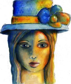 Art du Jour by Martha Lever: I forgot to post my blue and orange girl