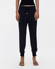 Image 2 of JOGGER WAIST TROUSERS from Zara