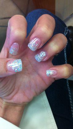 My winter wedding nails!
