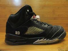 Nike Air Jordan V 5 s sz 6.5y VI Metallic Silver Retro Fire Mars OG Black 2011 #Jordan #Athletic #tcpkickz Jordan V, Youth Shoes, 5 S, Air Jordans, Nike Air, Metallic, Fire, Athletic, Retro