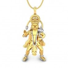 Bajrangbali Gold Pendant
