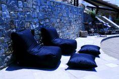 poofomania#Votsalaki Resort# Μύκονος##bean bag#outdoor#pool#