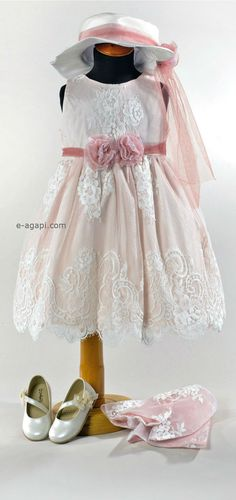 Vintage baby girl baptism dress  Christening outfit  by eAGAPIcom