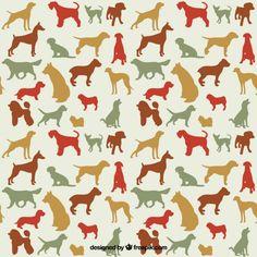 Variedad de razas de perros Vector Gratis