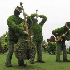 """""""Blues Brothers"""" topiary"""