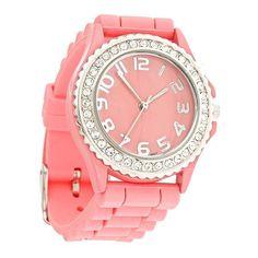 Jelly Watch {Poppy Pink}
