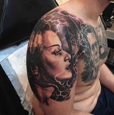 Monster Tattoo Portrait Torso  - http://tattootodesign.com/monster-tattoo-portrait-torso/  |  #Tattoo, #Tattooed, #Tattoos