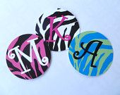 Zebra print laminated bag tag by Toddle Tags