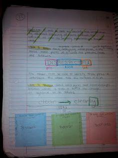 A Teacher's Treasure: Interactive Student Notebook - Reading - My Pride & Joy!