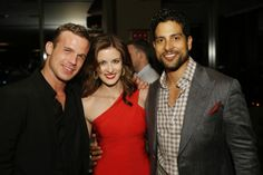 """""""Reckless"""" at the CBS Summer Soiree - Cam Gigandet (l), Anna Wood (center), and Adam Rodriguez (far right), of the new CBS drama """"Reckless"""" pose for a photo at the CBS Summer Soiree."""