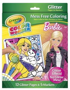 Crayola Color Wonder Barbie Glitter Paper and Markers - http://www.majestytoys.com/crayola-color-wonder-barbie-glitter-paper-and-markers/