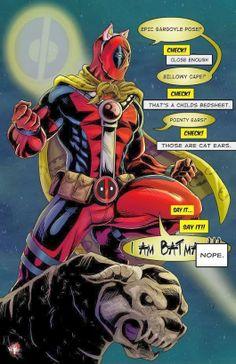 Deadpool x Batman by Wil Woods