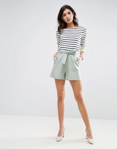 Wish List: ASOS' Chic Belted Linen Shorts
