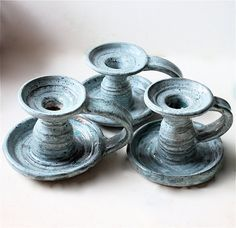 old-fashioned candlestick holders
