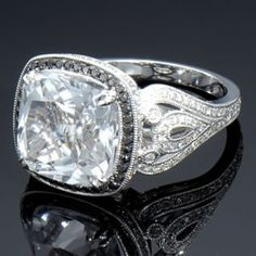 Art Deco diamond ring  http://www.SocietyOfWomenWhoLoveShoes.org Twitter @ThePowerofShoes