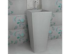 Freestanding square natural stone washbasin PRISMA by Danilo Ramazzotti