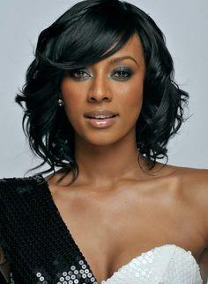 Terrific Black Women Curly Weave Hairstyles And Hairstyles On Pinterest Short Hairstyles For Black Women Fulllsitofus