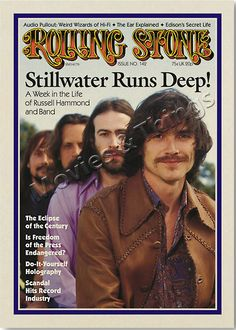 "18X24"" Almost Famous Movie Print - Stillwater on the cover of Rolling Stone Magazine  You know how you can get a poster of pretty much every modern Rolling Stone Magazine cover? Well, I thought it would be awesome to get the iconic Rolling Stone cover with fictional band, Stillwater, from Almost Famous (ya know, one of the best movies ever made). I've had this print framed on my wall for the last 2 years. I've had enough people ask me about it that I decided to make more!"