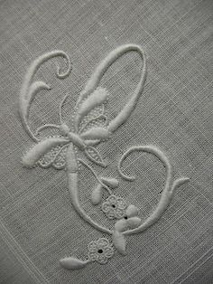 Whitework monogram C with butterfly love the butterfly !                                                                                                                                                                                 Plus