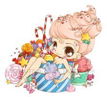 Scrap Candy Chibi Commission by YamPuff