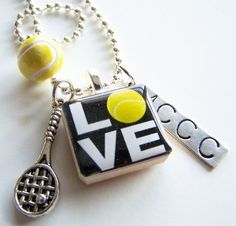 a tennis key chain